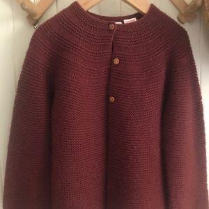 Zara girls knit cardigan size 4-5 like new